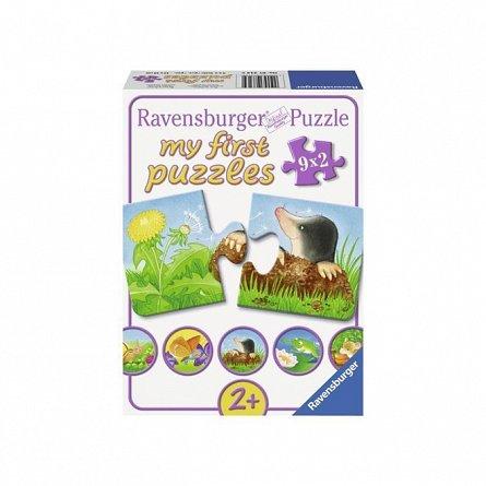 Puzzle Ravensburger - Animale de gradina, 9x2 piese