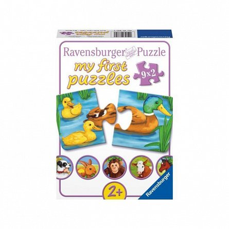 Puzzle Ravensburger - Animale adorabile, 9x2 piese