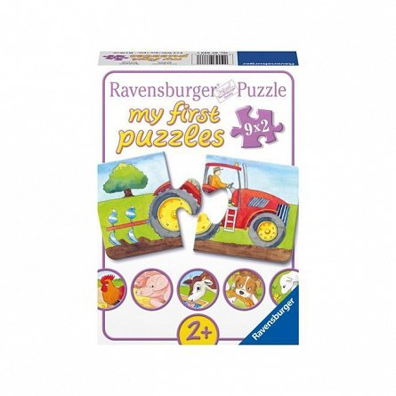 Puzzle Ravensburger - La ferma, 9x2  piese