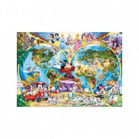 Puzzle Ravensburger - Harta lumii Disney, 1000  piese