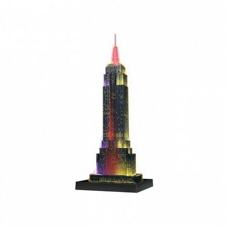 Puzzle 3D Ravensburger - Empire State Building noaptea, 216 piese
