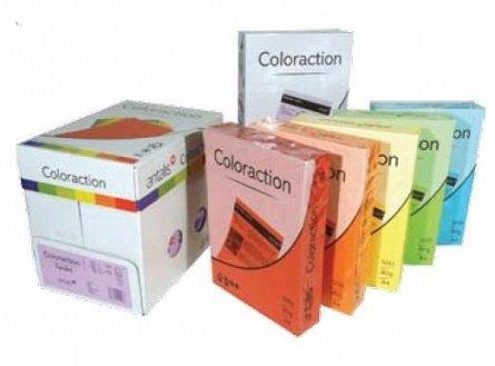 Hartie color A4 ,80 g/mp, 5 culori x 50 coli/top, intens, Coloraction