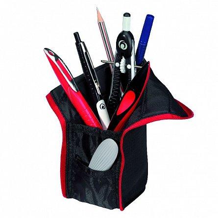 Penar suport instrumente,negru/rosu