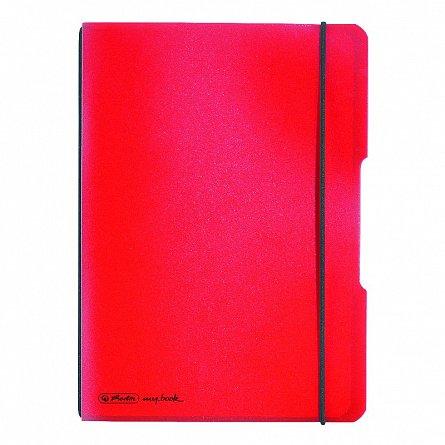 Caiet A5,My.Book Flex,40f,mate,rosu