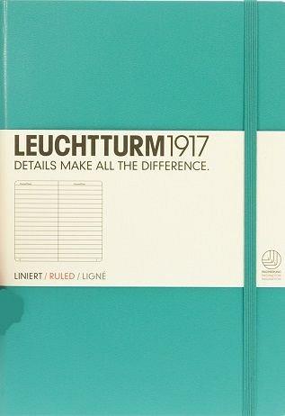 Caiet Leuchtturm A5,249f,dict,smarald