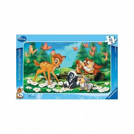 Puzzle Ravensburger - Bambi, 15 piese