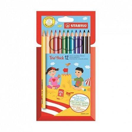Creioane colorate,12b/set,StabiloTrio,hex