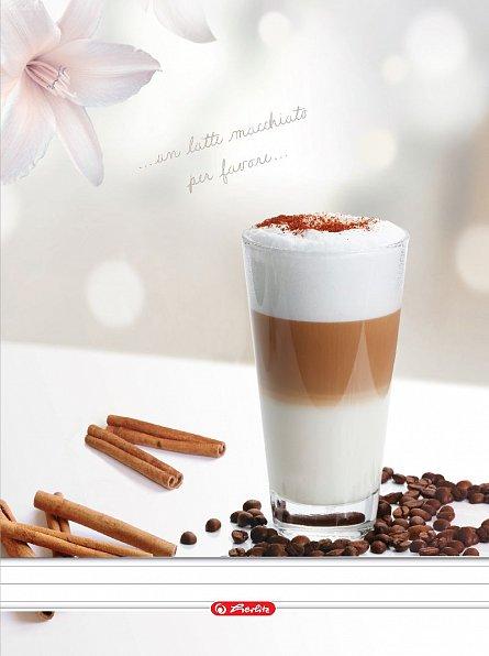 Caiet spira A4,100file,Coffee,dictando