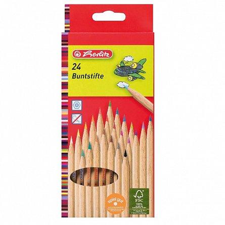 Creioane colorate,24b/set,natur,Herlitz