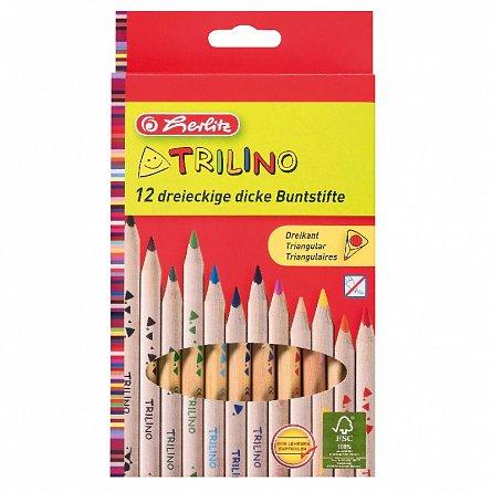 Creioane colorate,12b/set,triunghilare,Herlitz