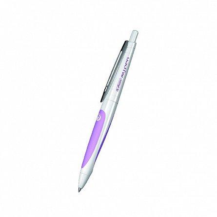 Pix cu gel My.Pen,corp alb/roz
