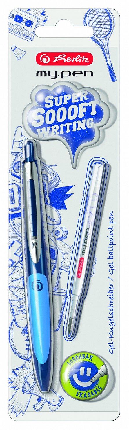 Pix cu gel My.Pen,corp bleumarin/albastru