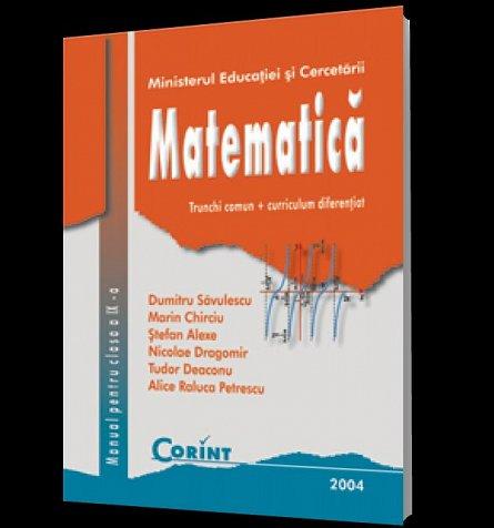 MANUAL CLS. A IX-A - MATEMATICA TC+CD