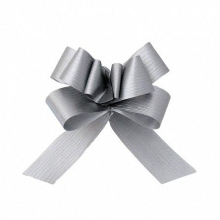 Funda pentru cadouri autoformare, polipropilena, 3cm, argintie
