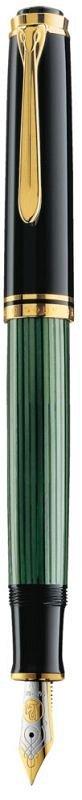 Stilou Pelikan,Souveran,M600,F 14K,negru-verde,GT
