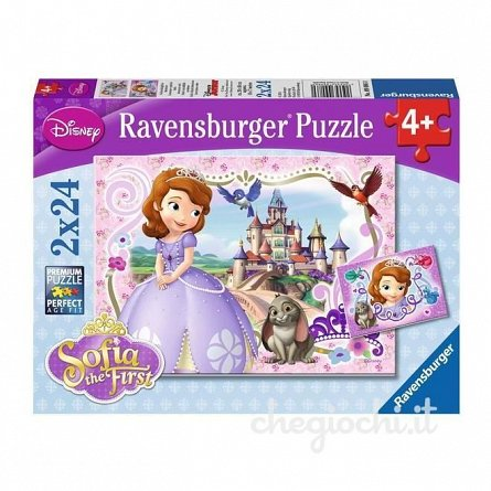 Puzzle Ravensburger - Printesa Sofia, 2x24  piese