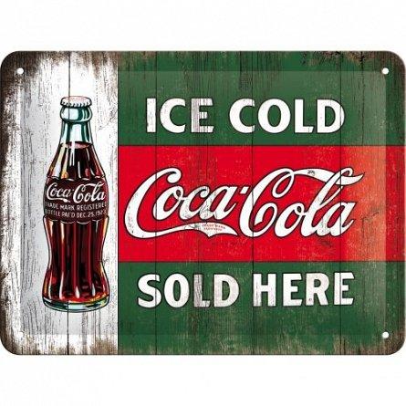 Placa 15x20 Coca-Cola - Ice Cold Sold Here