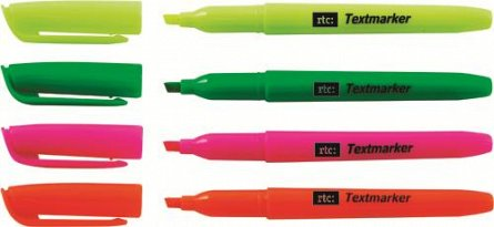 Textmarker stick orange