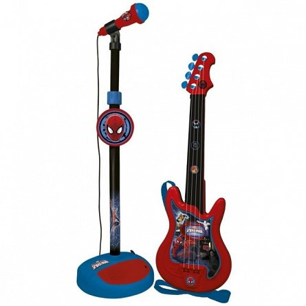 Set chitara cu microfon stativ,Spiderman,552