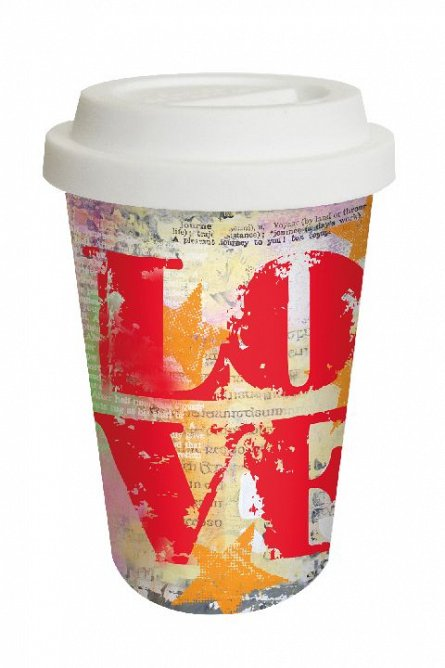 Pahar cafea to Go Love Graffiti