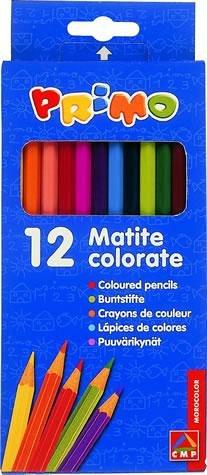 Creioane colorate,12b/set,18cm,Primo