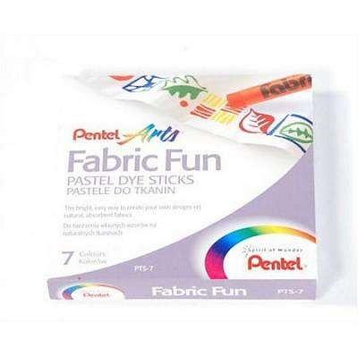 Creioane cer.Pentel FabricFunPastel,7b/s