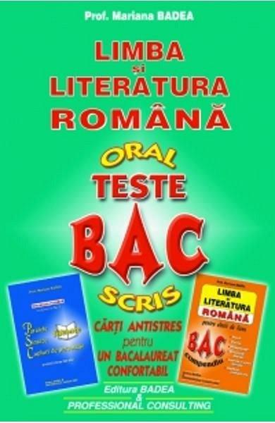 TESTE BAC (LIMBA SI LITERATURA ROMANA)