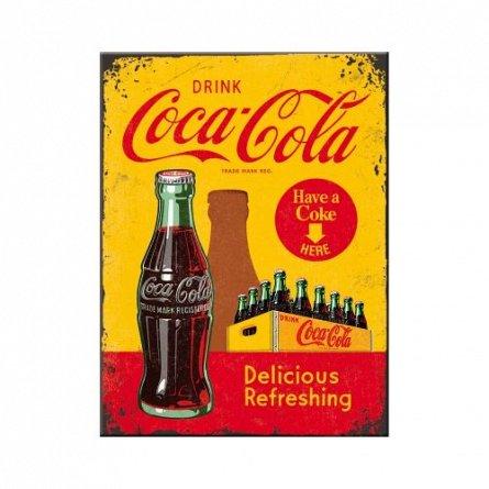 Magnet 14321 Coca-Cola - In Bottles Yellow