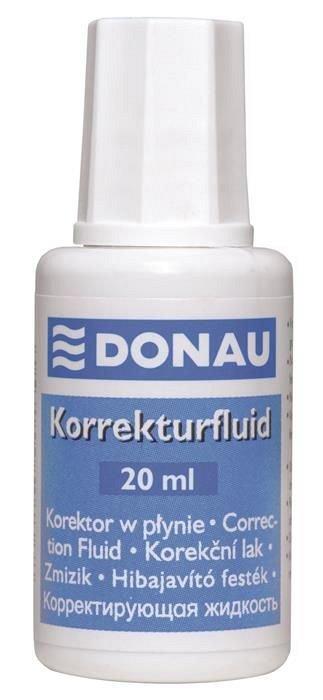 Fluid corector Donau, pe baza solvent, 20 ml, aplicator cu pensula