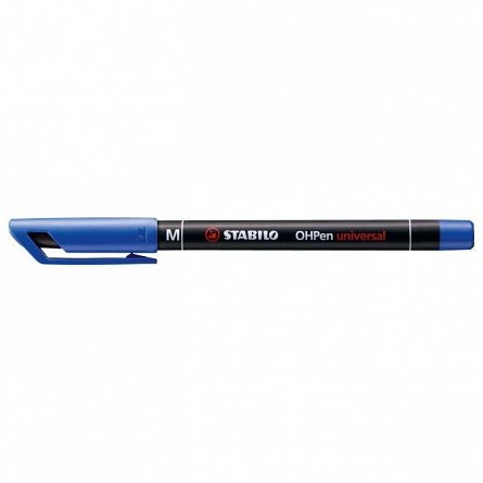 Marker perm.Stabilo OHPen,M,albastru