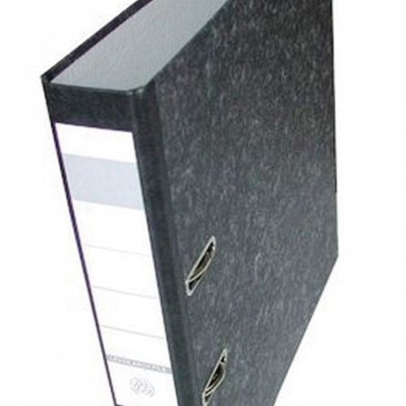 Biblioraft marmorat A4, 50 mm, Herlitz, cu insertie