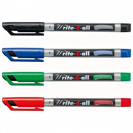 Marker perm.Stabilo Write-4-all,F,verde