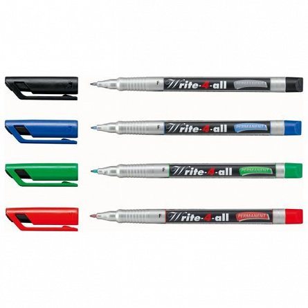 Marker perm.Stabilo Write-4-all,F,rosu