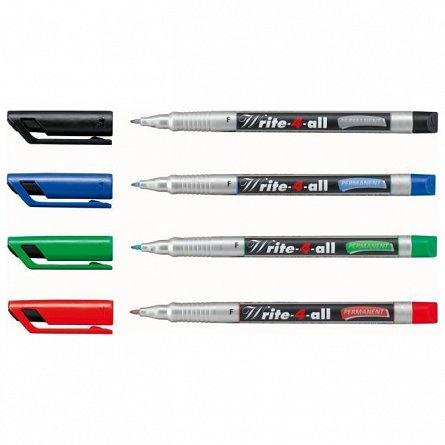 Marker perm.Stabilo Write-4-all,F,negru