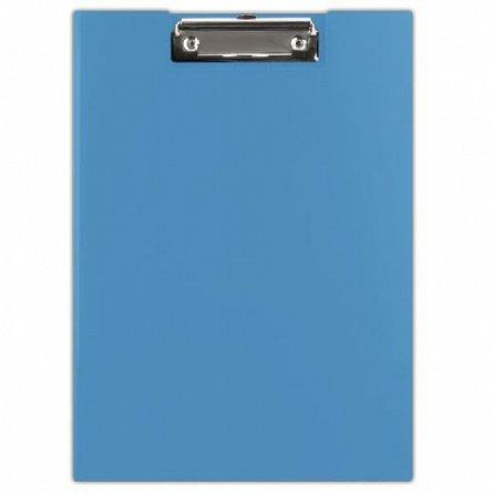 Clipboard dublu A4, Donau, carton platifiat, albastru