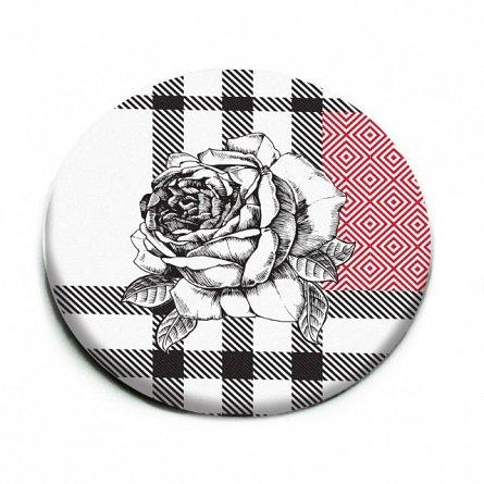Oglinda,white,Floral Chess