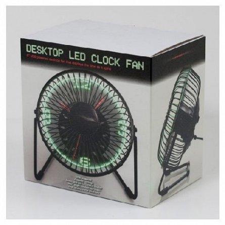 Ceas de birou ventilator cu LEDuri - RED5 LED Clock Fan