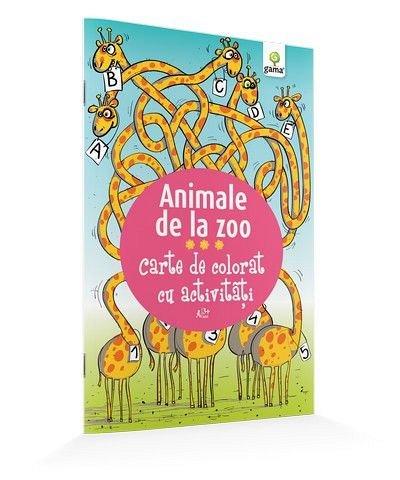 ANIMALE DE LA ZOO/ CARTE DE COLORAT CU ACTIVITATI. 2015