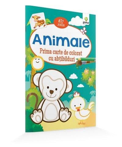 ANIMALE/ CARTE DE COLORAT CU ABTIBILDURI. JUNIOR.15