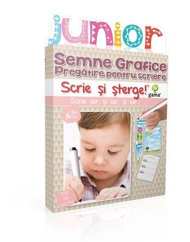 SEMNE GRAFICE. PREGATIRE PENTRU SCRIERE/ SCRIE SI STERGE JUNIOR