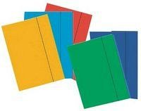 Mapa A4,carton,cu elastic,albastru deschis