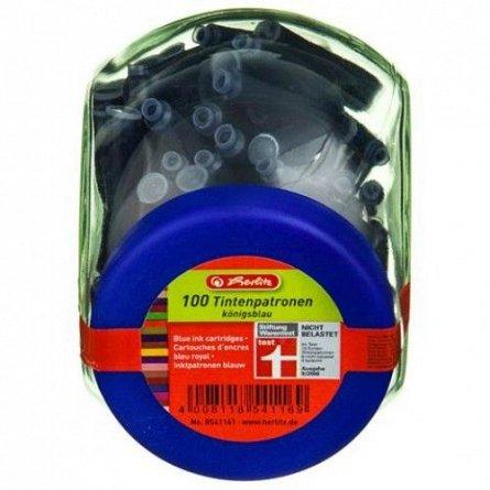 Rezerva stilou (Patroane cerneala), albastru, 100buc/set