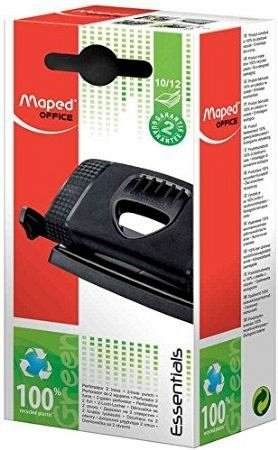 Perforator Maped, capacitate 12 coli, Essentials Green, negru
