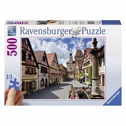 Puzzle Ravensburger - Rothenburg, 500 piese