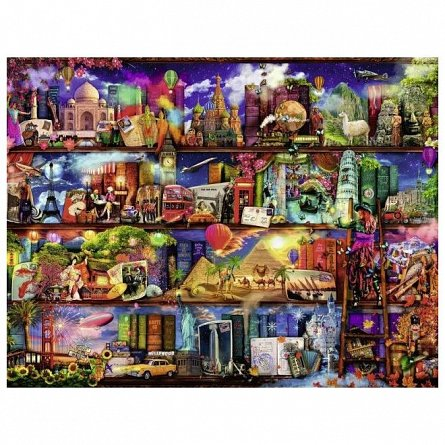 Puzzle Ravensburger - Lumea Cartilor, 2000 piese