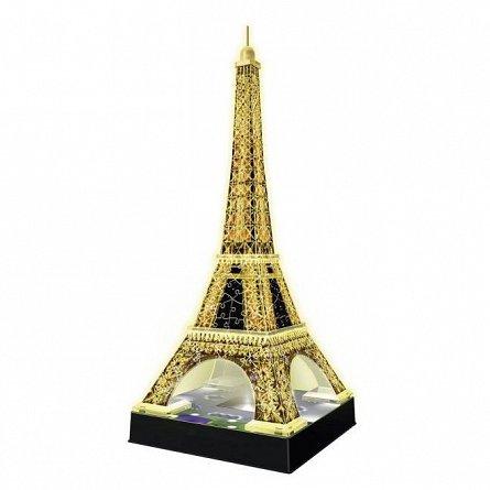 Puzzle 3D Ravensburger - Turnul Eiffel Noaptea, 216 piese