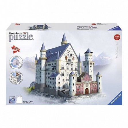 Puzzle 3D Ravensburger - Castelul Neuschwanstein, 216 piese