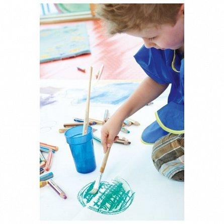 Creion colorat,3in1,Stabilo Woody,albastre