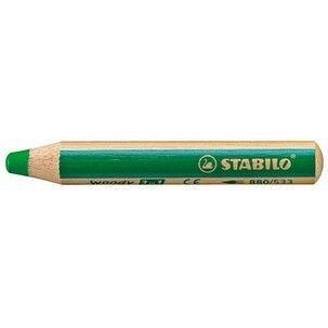 Creion colorat,3in1,Stabilo Woody,verde deschis