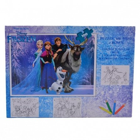 Puzzle 100pcs,coloriaj,Frozen